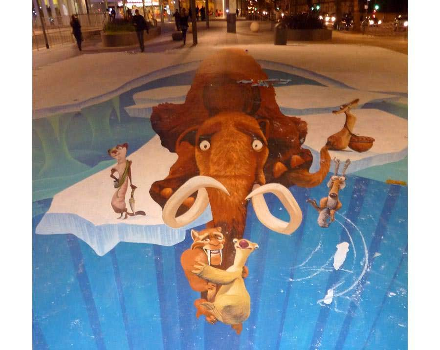 ice age 3 street art