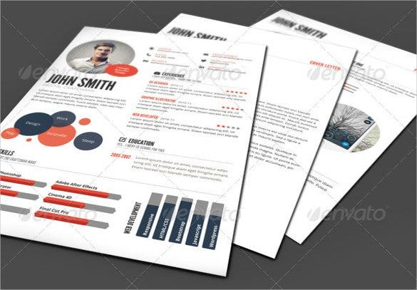infographic style resume format downloads