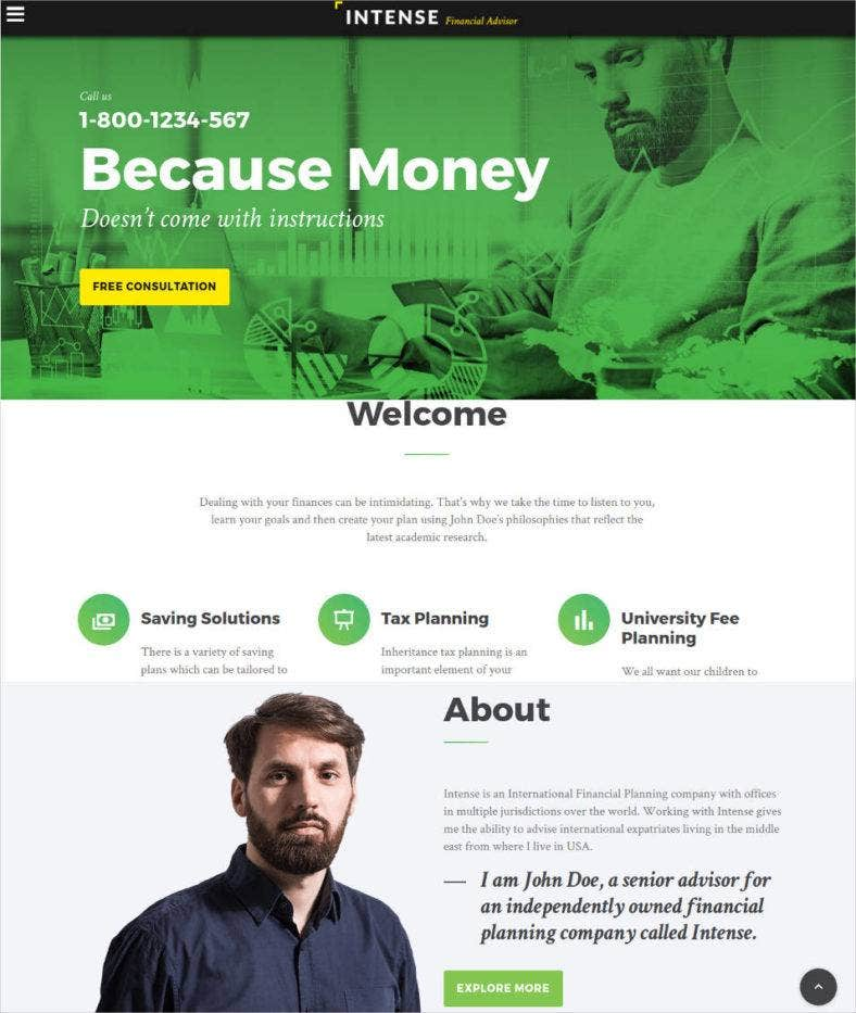 Best Financial Advisor Website Templates Free Premium Templates - Tax website templates