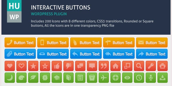 Interactive Buttons Wordpress Plugin