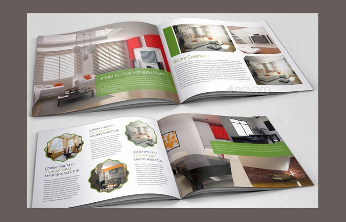 Interior Design Brochure Catalog Template