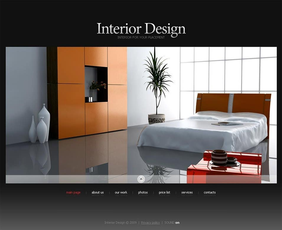8 best swish interior website themes templates free for Interior design layout templates