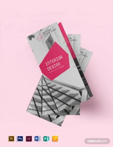interior designer tri fold brochure template2