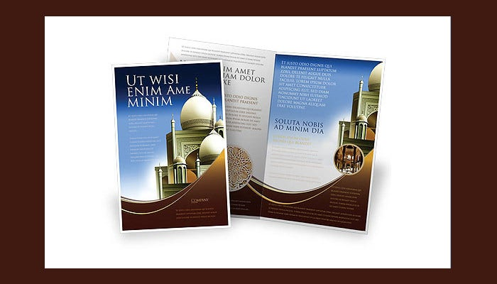 islamic architecture brochure template1