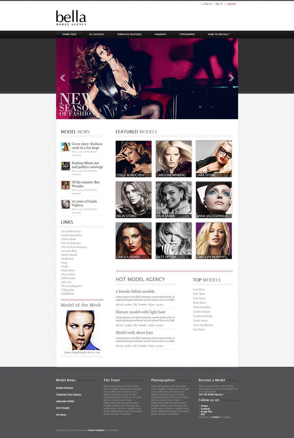 Joomla Model Agency Template