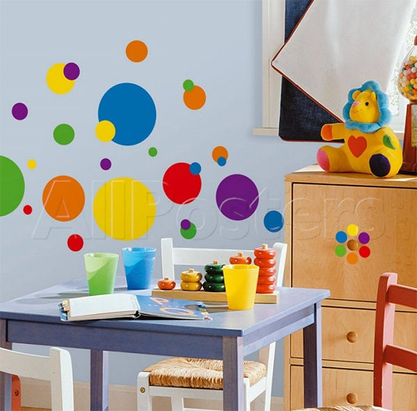 just dots primary wall decal at allposters