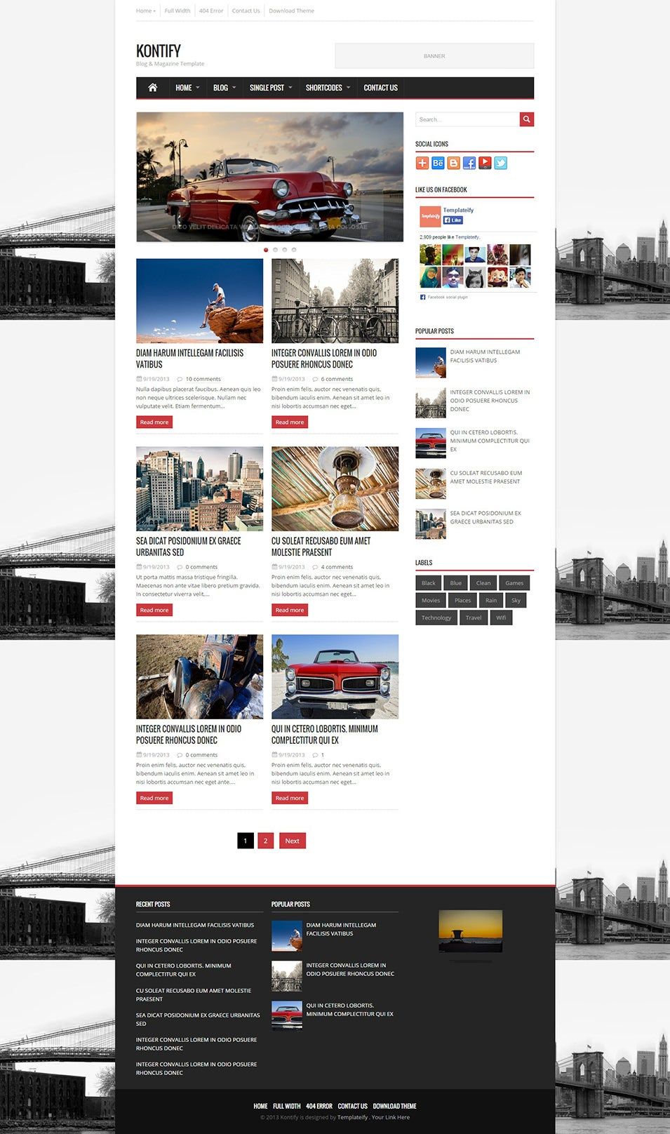 Top Magazine Journal Blog Template - 12+ Free Sample, Example Format ...