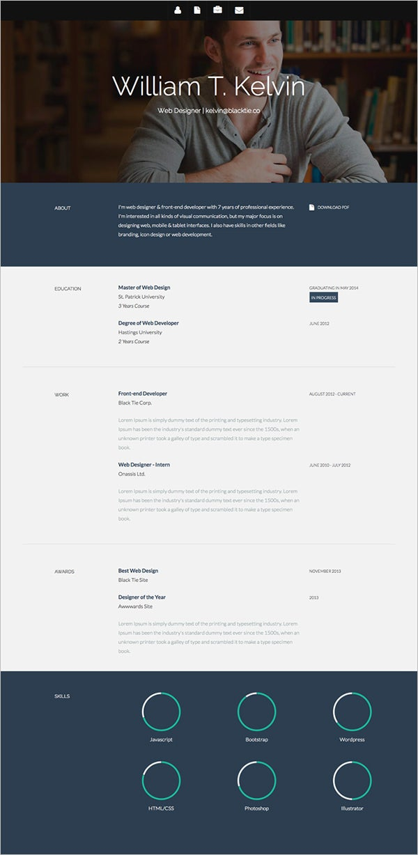 41+ Html5 Resume Templates – Free Samples, Examples Format