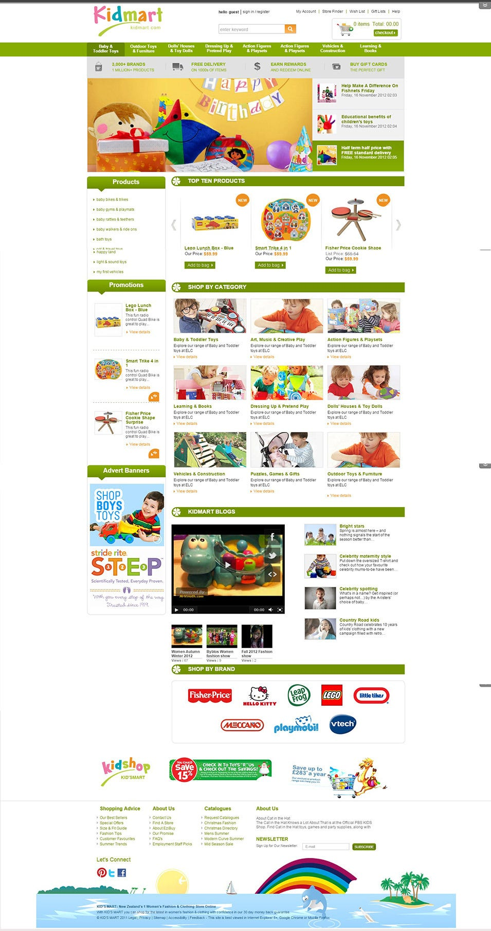 Joomla Kid Shop Virtuemart Template
