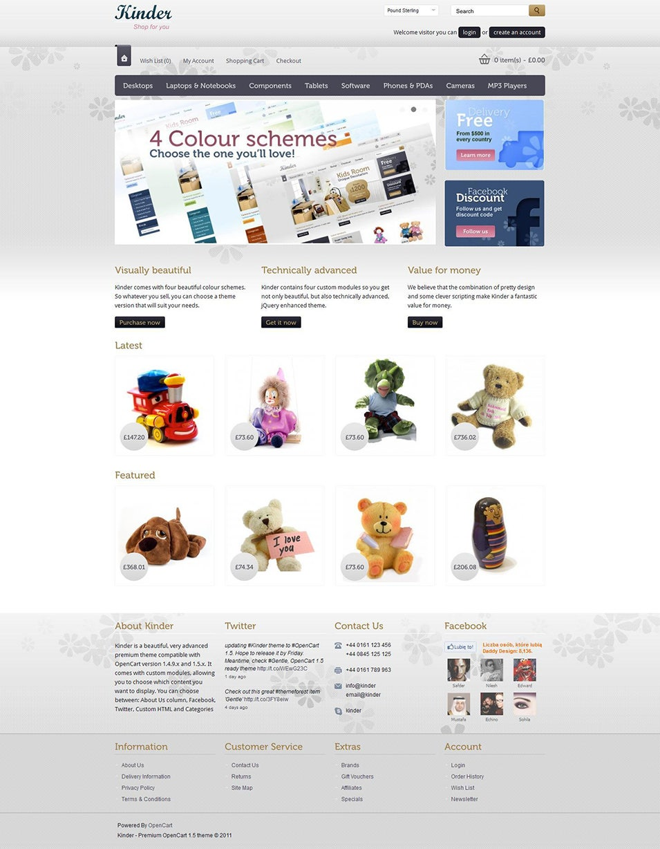7 opencart baby store templates free psd eps ai format for Opencart bookstore template