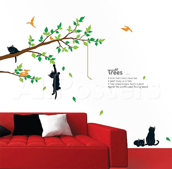kitten poem tree wall decal at allposters