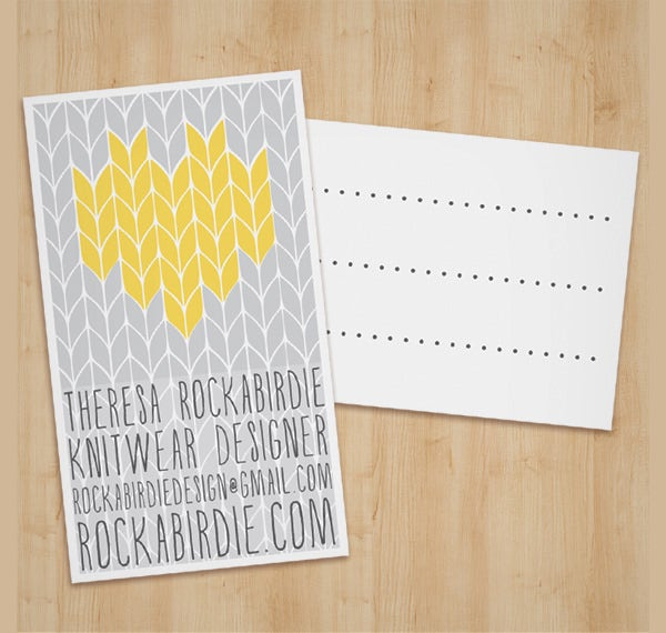 knit cards template