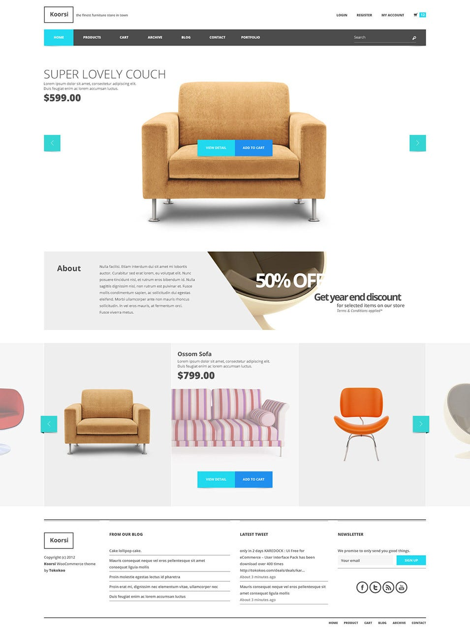 Koorsi Furniture Flat Woocommerce theme