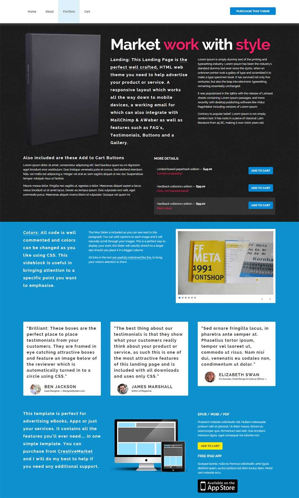 20 best seo landing page templates free premium templates. Black Bedroom Furniture Sets. Home Design Ideas
