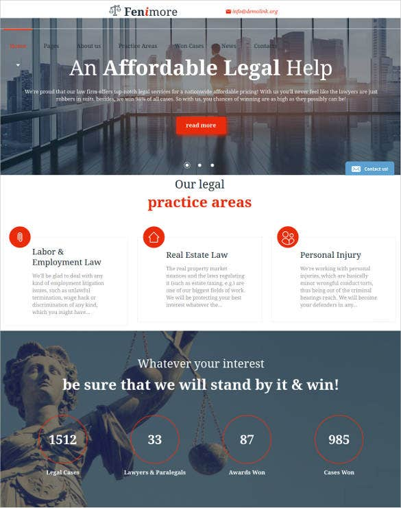 law firm jquery html5 website template