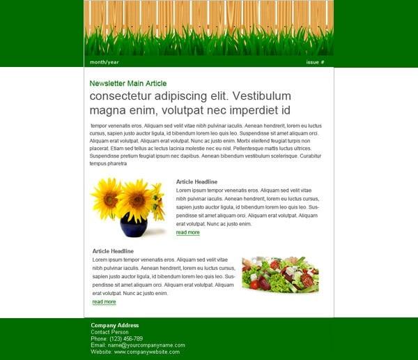 lawn newsletter