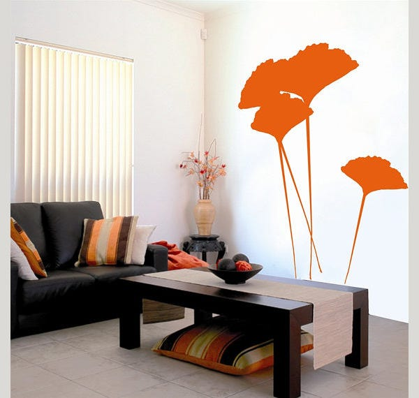 leaves wall sticker