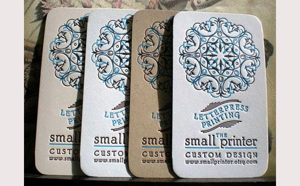 Letterpress Business Cards - Sample