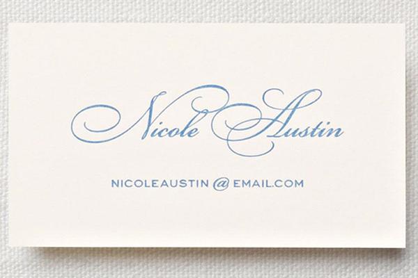 letterpress ecruwhite calling card