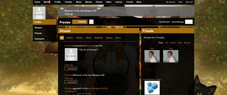 live preview of halloween fairy myspace 2
