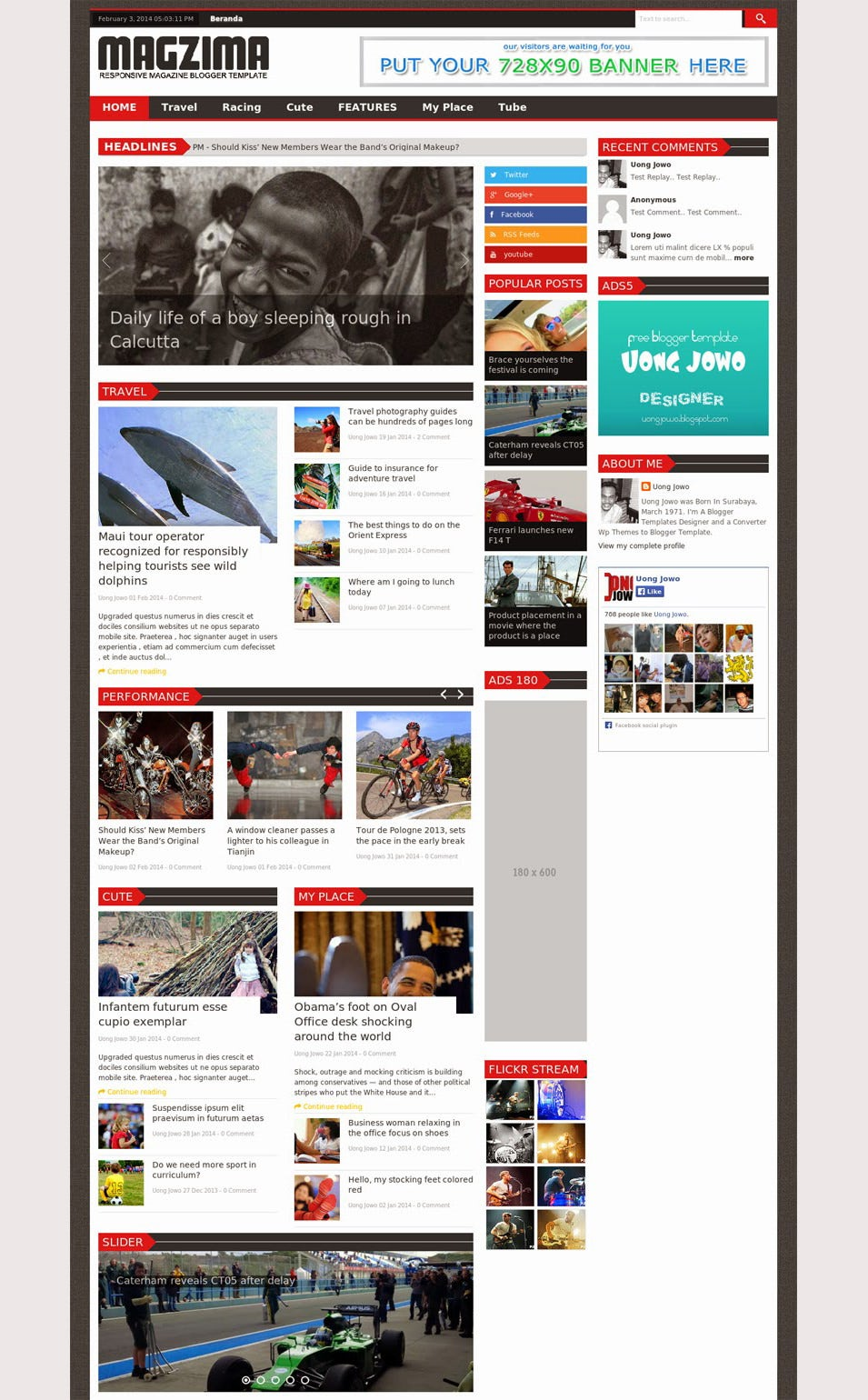 Magzima Magazine Blogger Template