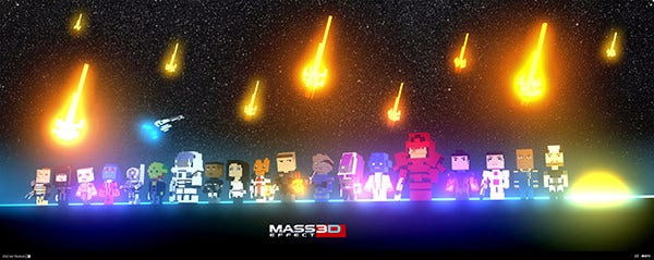 Mass Effect 3D Pixel Art