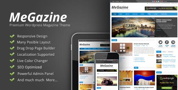 megazine responsive blog wordpress theme
