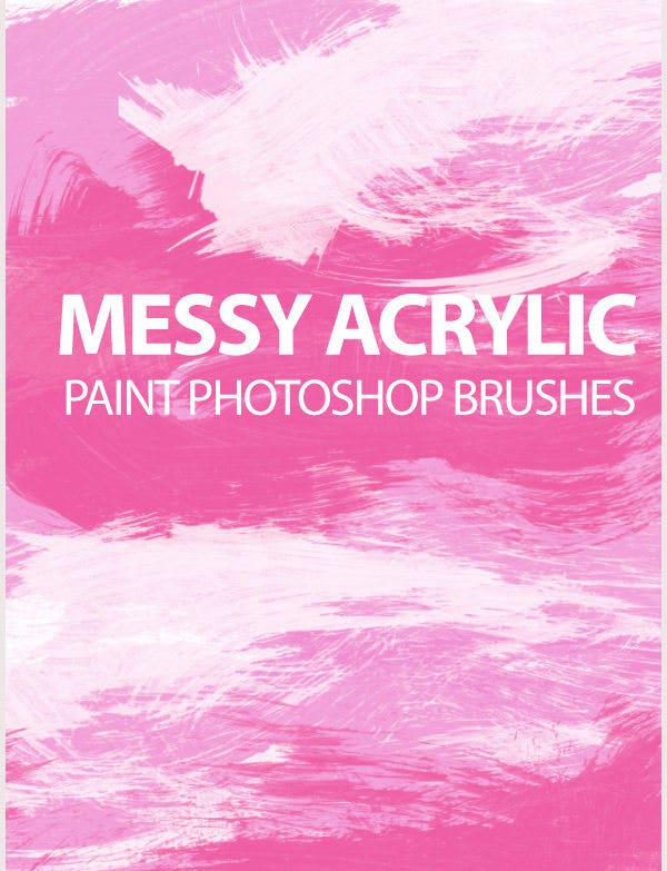 messy acrylic paint strokes