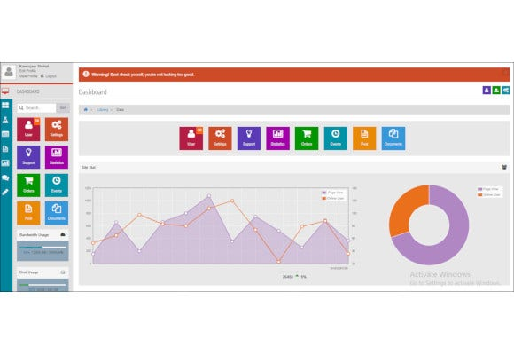 metro style bootstrap admin dashboard