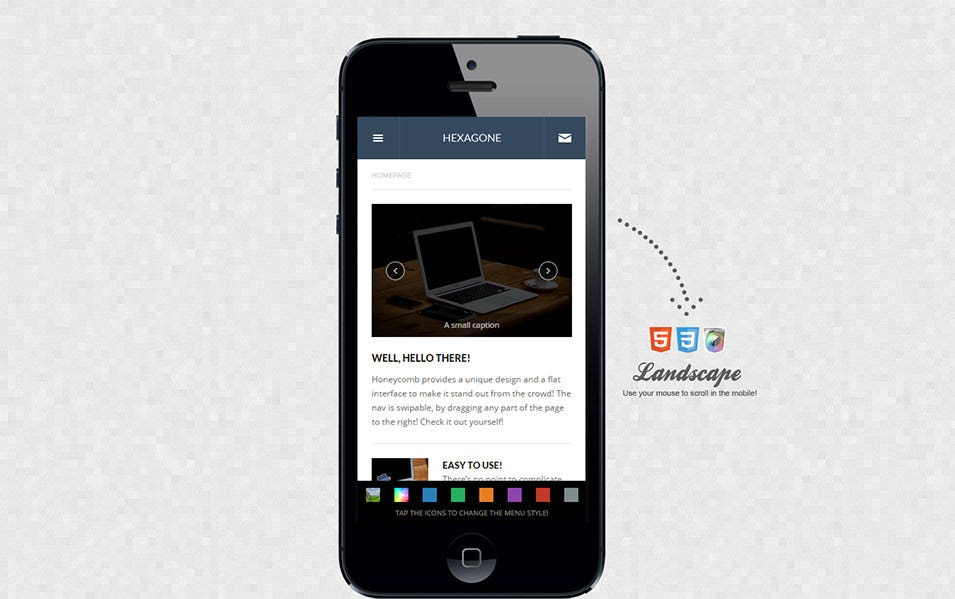 mobile retina html5 css3 with webapp