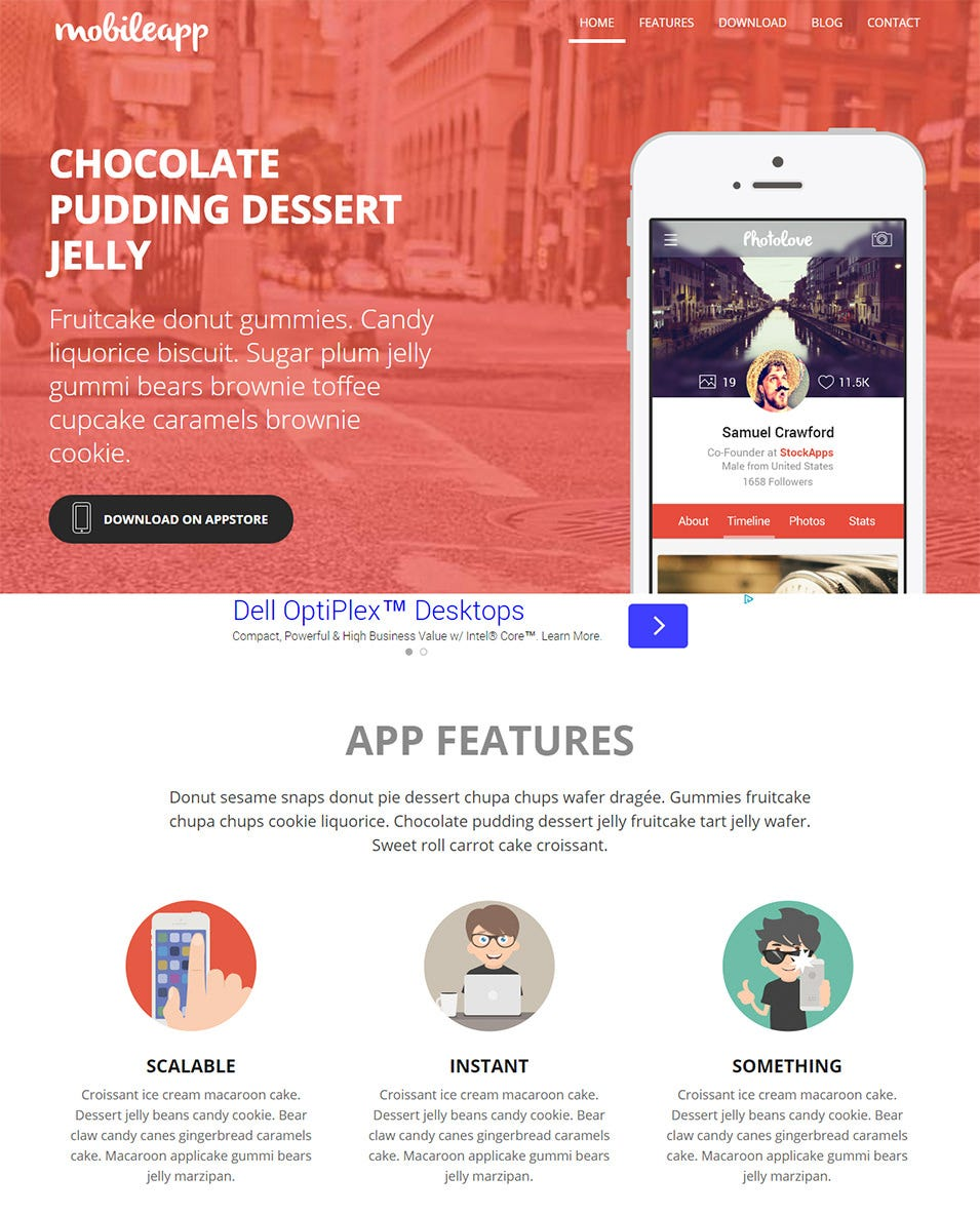 mobileapp website template home w3layouts