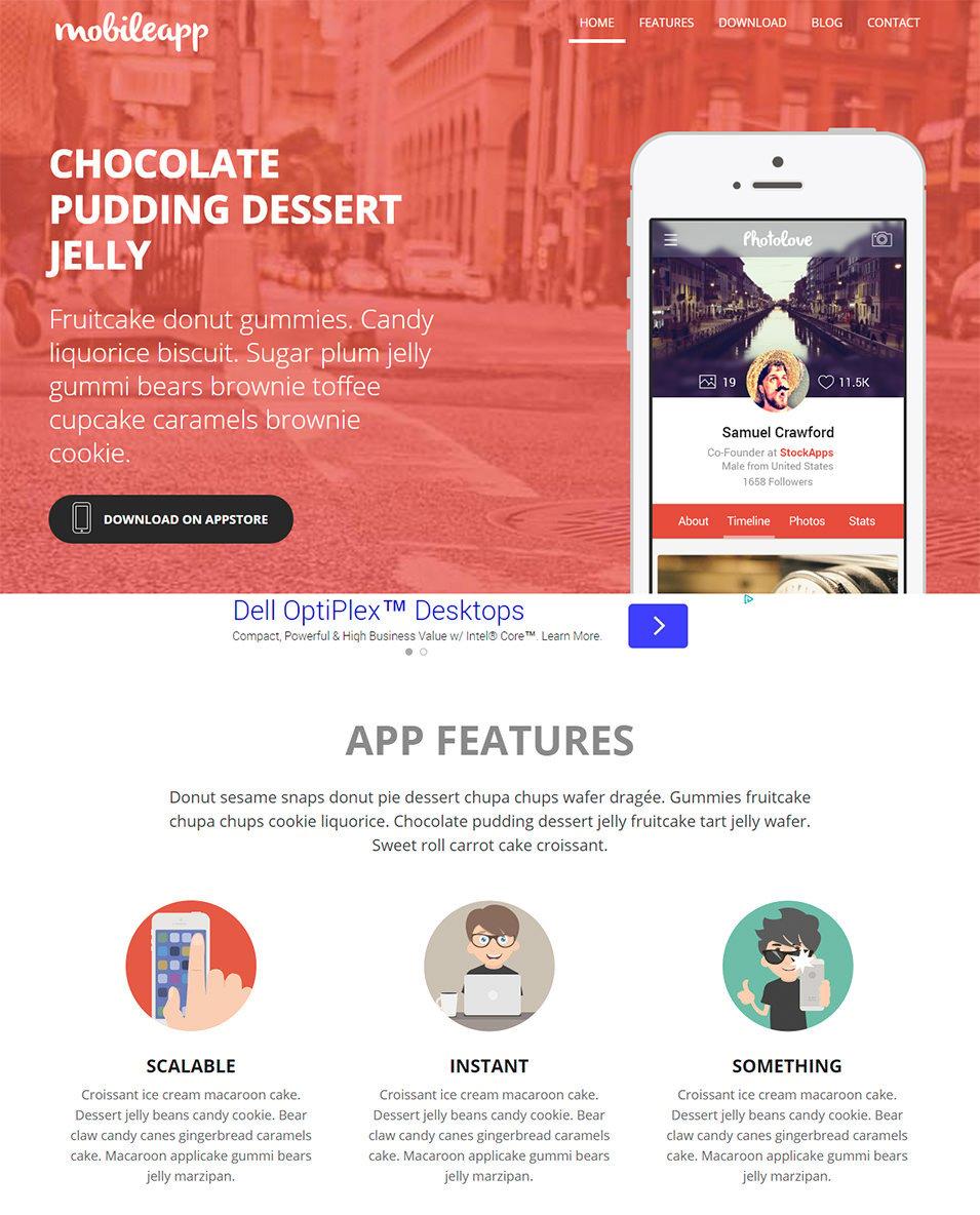 20+ Best Premium Responsive Mobile Templates / Designs | Free ...