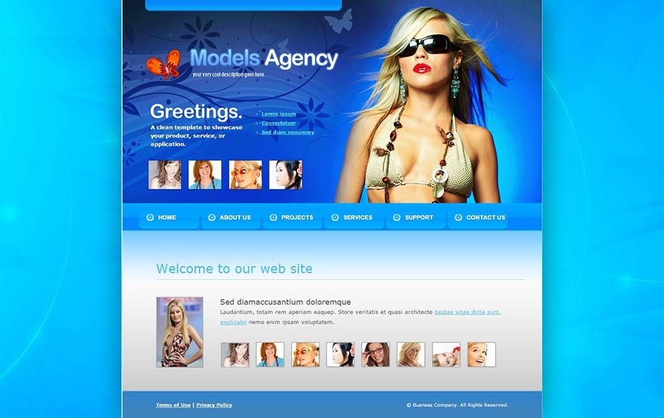models agency web template 6153