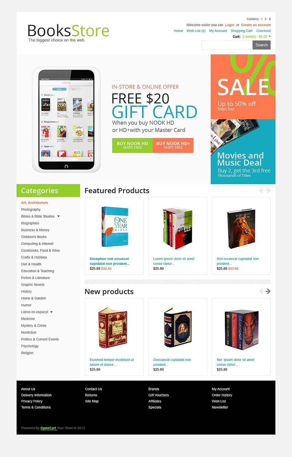 Modern Books OpenCart Template Top Result 60 Inspirational Opencart Bookstore Template Gallery 2017 Phe2