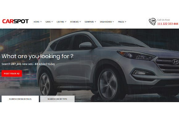 modern classified ad listing car services