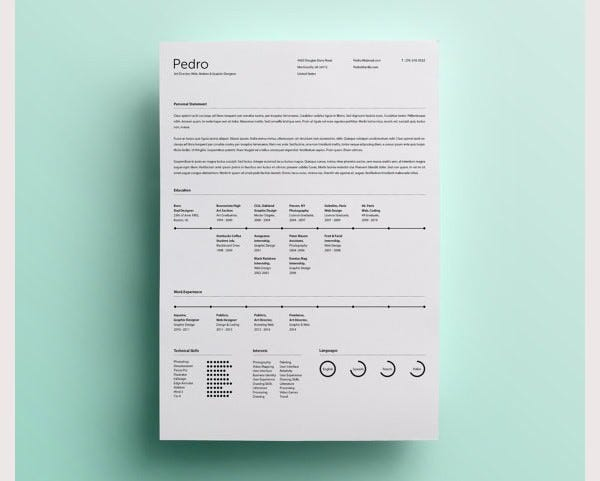 modern resume design template