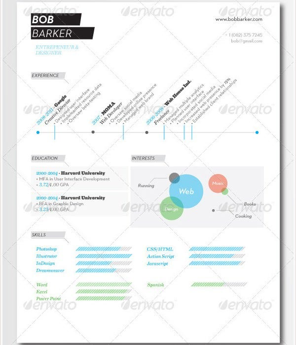 Psd Resume Template U2013 51+ Free Samples, Examples, Format Download