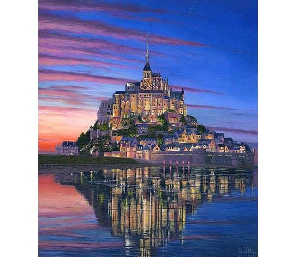 mont saint michel soir canvas print canvas art by richard harpum copy