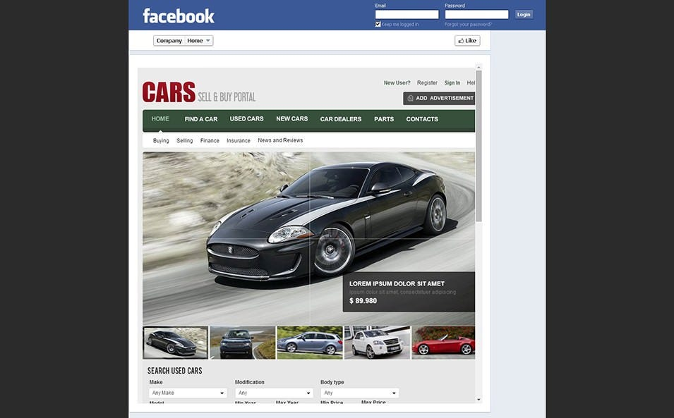 13 facebook page templates for business free premium templates cars facebook page templates friedricerecipe Choice Image