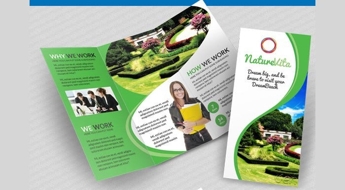 multifunctional 3 fold brochures