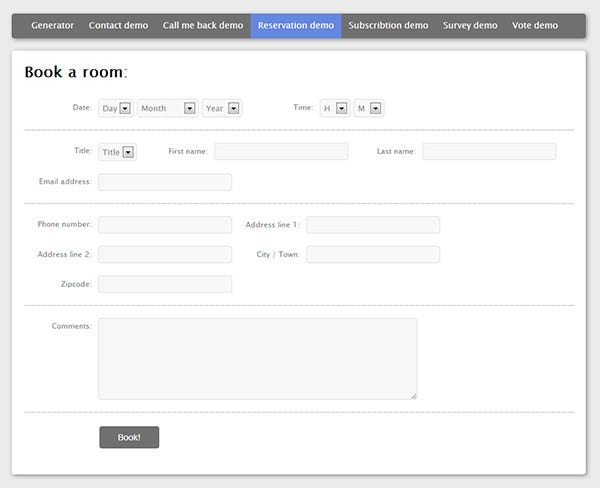 multiple contact forms