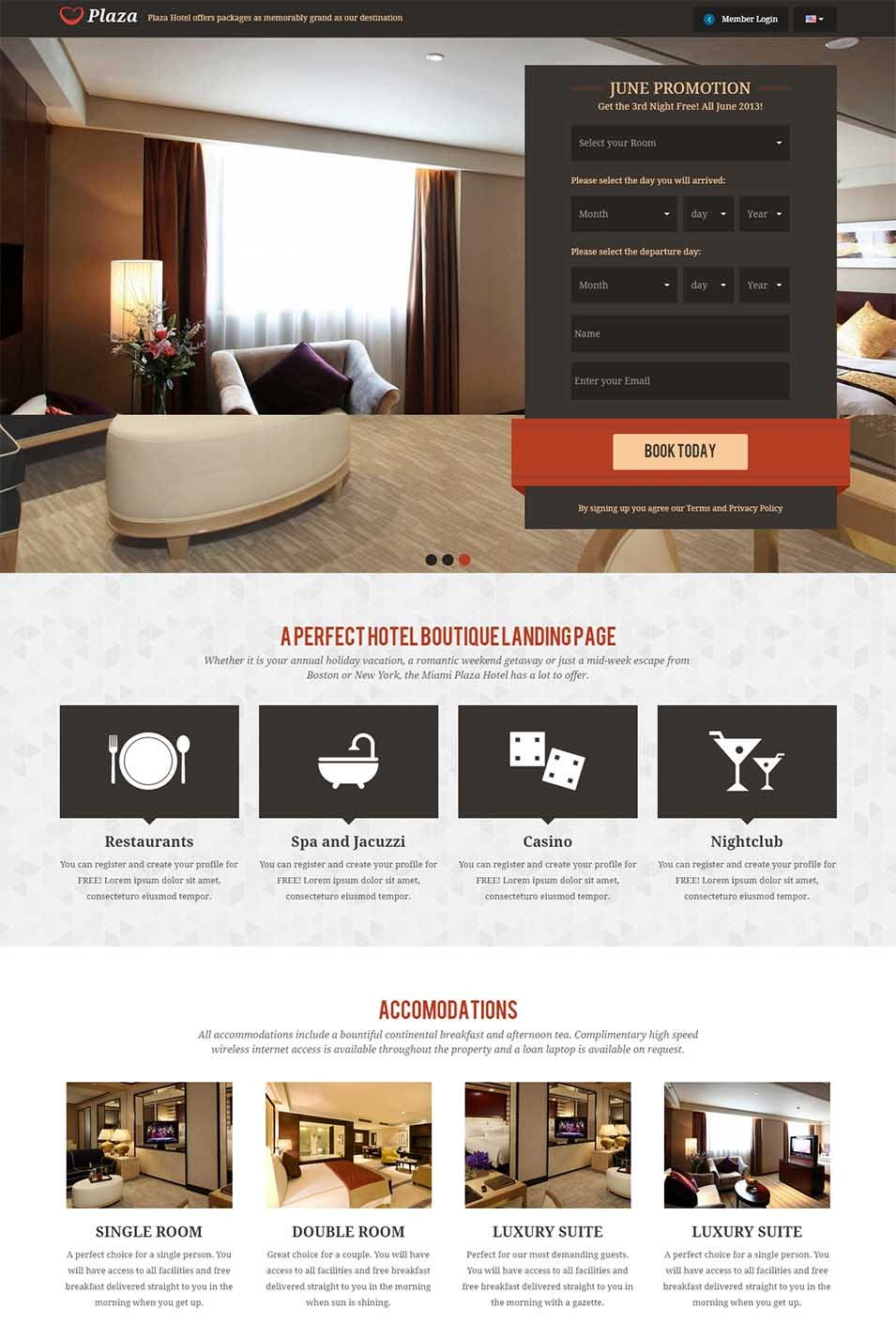 multipurpose plaza landing page responsive boostrap template