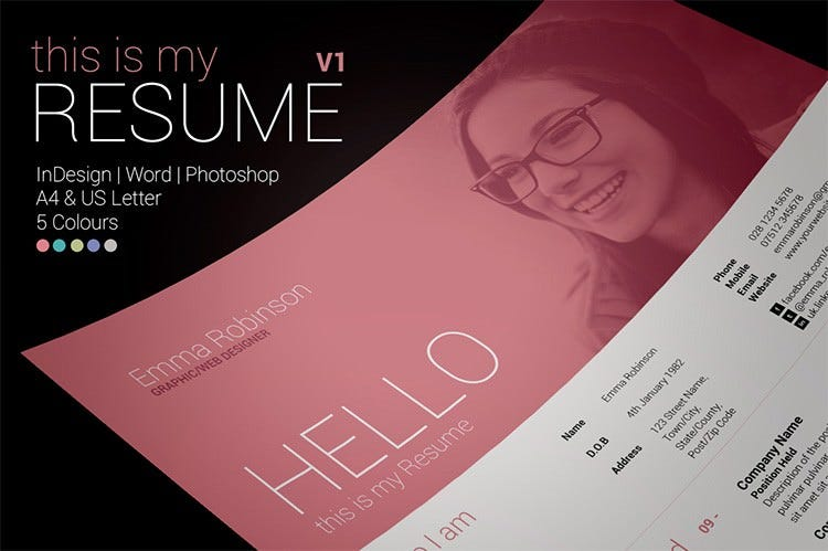 41  html5 resume templates