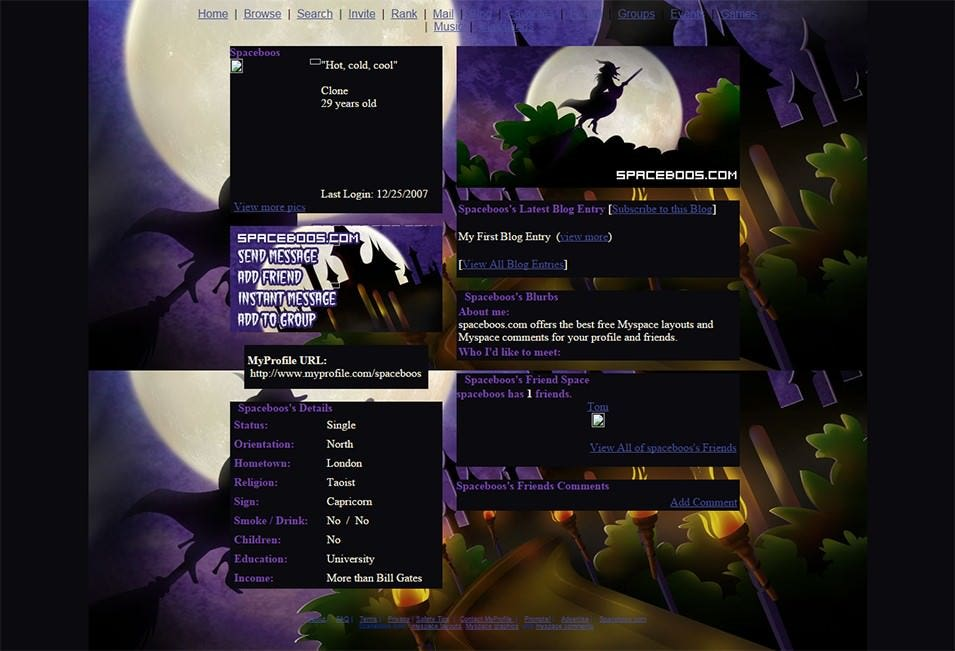 myspace layouts layout preview