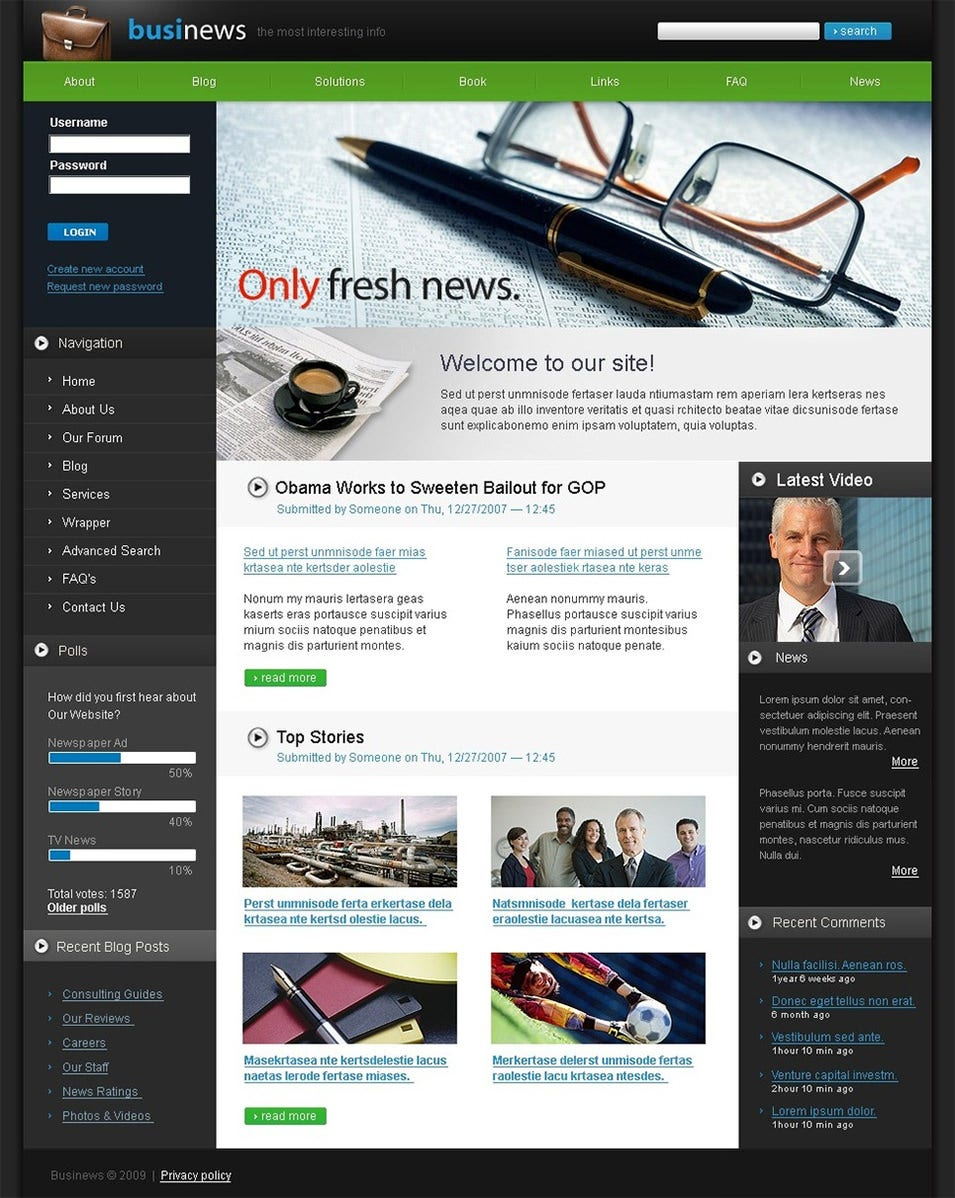 news portal drupal template 3