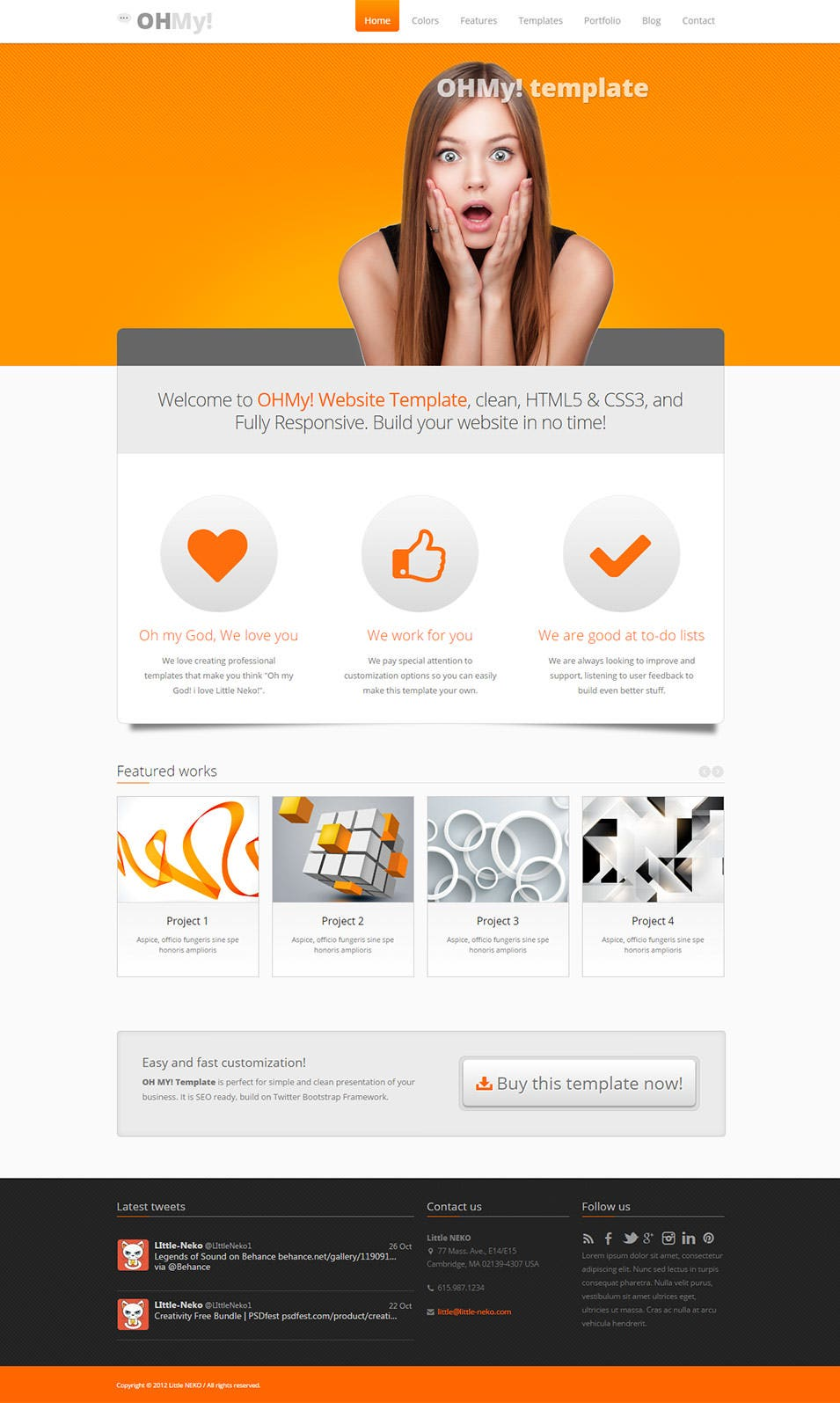 ohmy css3 template