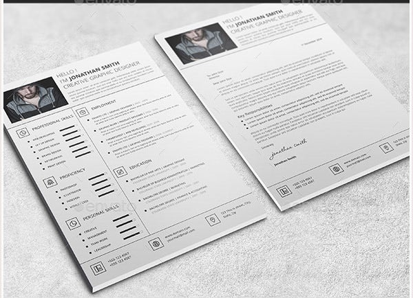 1 page resume template download one word with photo