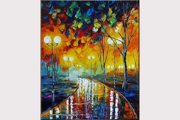 Original Abstract Oil Painting,Park Nigh