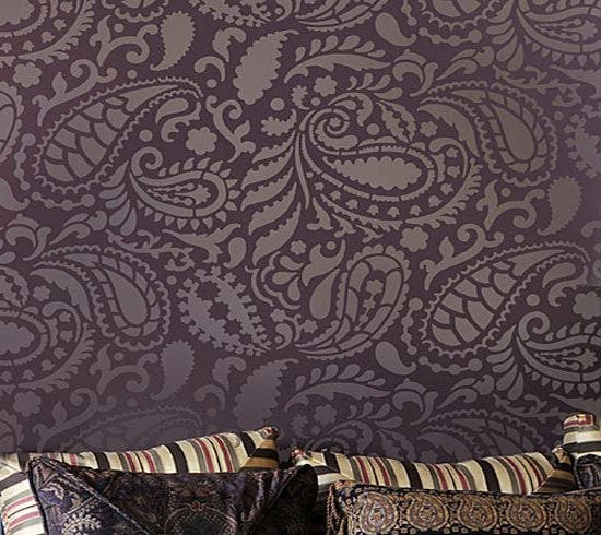 paisley allover stencil - Design Stencils For Walls