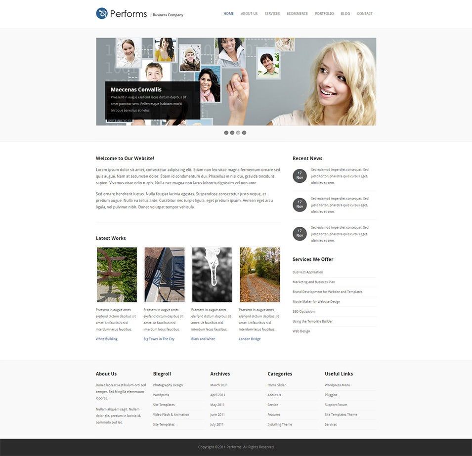 Performs - Business and Ecommerce HTML Template